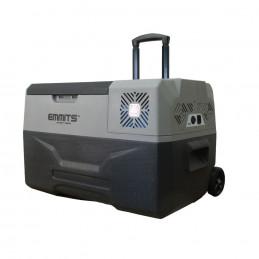 Nevera Emmits 30L, con compresor LG, batería, ruedas y asa.