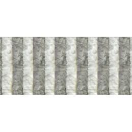 Cortina terciopelo gris -...